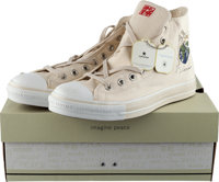 """John Lennon """"Imagine Peace"""" Converse All Star High Top Sneakers With Tags Unused in Original Box"""