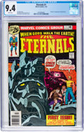 Bronze Age (1970-1979):Superhero, The Eternals #1 (Marvel, 1976) CGC NM 9.4 White pages....