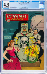 Dynamic Comics #13 (Chesler, 1945) CGC VG+ 4.5 Off-white to white pages
