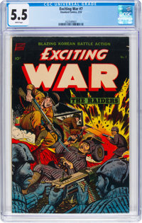 Exciting War #7 (Standard, 1953) CGC FN- 5.5 White pages