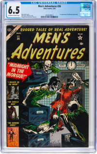 Men's Adventures #26 (Atlas, 1954) CGC FN+ 6.5 Off-white to white pages