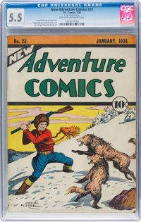 New Adventure Comics #23 (DC, 1938) CGC FN- 5.5 Cream to off-white pages