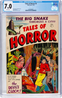 Tales of Horror #3 (Toby Publishing, 1952) CGC FN/VF 7.0 White pages