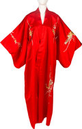Movie/TV Memorabilia:Costumes, Elizabeth Taylor Owned 1940s Red Kimono....