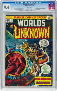 Worlds Unknown #1 (Marvel, 1973) CGC NM 9.4 White pages