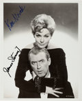Movie/TV Memorabilia:Autographs and Signed Items, Jimmy Stewart and Kim Novak Signed Promo Photo....