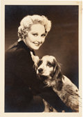 Movie/TV Memorabilia:Autographs and Signed Items, Thelma Todd Signed Photo....