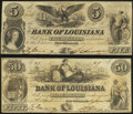 Obsoletes By State:Louisiana, New Orleans, LA- Bank of Louisiana $5; $50 June 14, 1862 Fine-Very Fine or Better.. ... (Total: 2 notes)