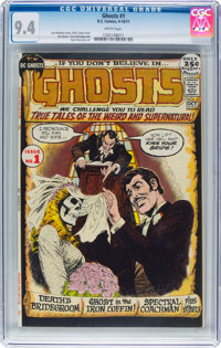 Ghosts #1 (DC, 1971) CGC NM 9.4 White pages