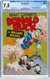 Four Color #147 Donald Duck (Dell, 1947) CGC VF- 7.5 White pages