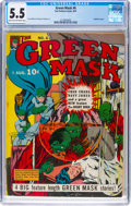 Golden Age (1938-1955):Superhero, Green Mask #6 (Fox Features Syndicate, 1941) CGC FN- 5.5 Light tan to off-white pages....