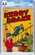 Golden Age (1938-1955):Crime, Kerry Drake Detective Cases #5 (Harvey, 1944) CGC VG+ 4.5 White pages....