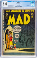 Golden Age (1938-1955):Humor, MAD #1 (EC, 1952) CGC VG/FN 5.0 Off-white to white pages....