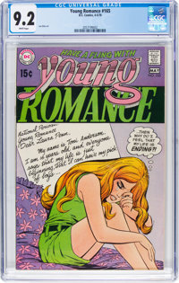Young Romance #165 (DC, 1970) CGC NM- 9.2 White pages