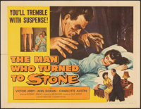 """The Man Who Turned to Stone (Columbia, 1957). Folded, Very Fine-. Half Sheet (22"""" X 28""""). Science Fiction"""