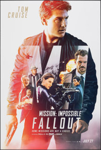 """Mission: Impossible - Fallout (Paramount, 2018). Rolled, Very Fine+. One Sheet (27"""" X 40"""") DS Advance. Action..."""