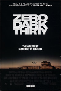 """Zero Dark Thirty & Other Lot (Sony Pictures Releasing, 2012). Rolled, Very Fine-. One Sheets (2) (27"""" X 40""""..."""