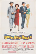 """Movie Posters:Musical, Guys and Dolls (MGM, 1955). Folded, Fine/Very Fine. One Sheet (28"""" X 42""""). Musical.. ..."""