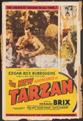 "Movie Posters:Serial, The New Adventures of Tarzan (Burroughs-Tarzan-Enterprise, 1935). Folded, Very Good/Fine. One Sheet (27"" X 41""). Serial.. ..."