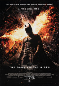 """The Dark Knight Rises (Warner Bros., 2012). Rolled, Very Fine+. One Sheet (27"""" X 40"""") DS Advance. Action"""
