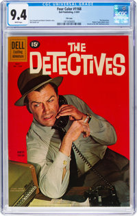 Four Color #1168 The Detectives - File Copy (Dell, 1961) CGC NM 9.4 White pages