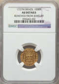 Brazil, Brazil: João V gold 1000 Reis 1727-M AU Details (Removed From Jewelry) NGC,...