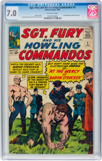 Sgt. Fury and His Howling Commandos #5 (Marvel, 1964) CGC FN/VF 7.0 Off-white pages