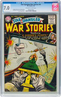 Star Spangled War Stories #41 (DC, 1956) CGC FN/VF 7.0 Off-white to white pages