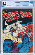 Golden Age (1938-1955):Western, Ghost Rider #1 (Magazine Enterprises, 1950) CGC VF+ 8.5 Off-white to white pages....