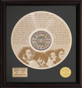 "Music Memorabilia:Memorabilia, The Beatles Sgt. Peppers Lonely Hearts Club Band ""When I'm 64"" 24kt Gold Record #268/500 (Apple,2004)...."