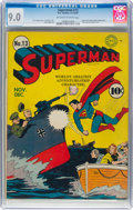 Golden Age (1938-1955):Superhero, Superman #13 (DC, 1941) CGC VF/NM 9.0 Off-white to white pages....