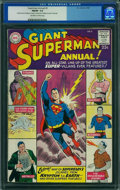 Silver Age (1956-1969):Superhero, Superman Annual #2 (DC, 1960) CGC FN/VF 7.0 Off-white to white pages.