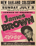 """Music Memorabilia:Posters, James Brown 1967 Oakland, CA Concert Poster from the """"Summer of Progress.""""..."""