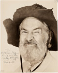 Movie/TV Memorabilia:Autographs and Signed Items, Gabby Hayes Signed Photo....