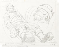"""Jack Kirby Space Stars - Teen Force """"Nebulon"""" and """"Wordstar"""" Animation Concept Original Art Group of..."""