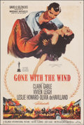 "Movie Posters:Academy Award Winners, Gone with the Wind (MGM, R-1961). Folded, Very Fine-. One Sheet (27"" X 41""). Academy Award Winners.. ..."