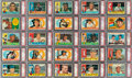 Baseball Cards:Sets, 1960 Topps Baseball High-Grade Complete Set (572) With All Major Stars Graded PSA NM-MT 8. ...