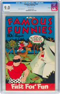 Golden Age (1938-1955):Humor, Famous Funnies #145 File Copy (Eastern Color, 1946) CGC VF/NM 9.0 Off-white pages....