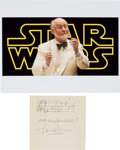 Movie/TV Memorabilia:Autographs and Signed Items, [Star Wars] John Williams Autograph Musical Quote Signed. ...