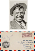 Movie/TV Memorabilia:Autographs and Signed Items, Will Rogers Signed Airmail Cover. ...