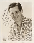 Movie/TV Memorabilia:Autographs and Signed Items, Robert Ryan Signed Vintage Photo. ...
