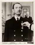 """Movie/TV Memorabilia:Autographs and Signed Items, Clifton Webb Signed Original Still from """"The Man Who Never Was"""" (1956). ..."""