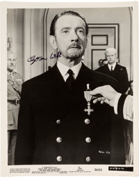 """Clifton Webb Signed Original Still from """"The Man Who Never Was"""" (1956)"""
