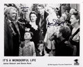 Movie/TV Memorabilia:Autographs and Signed Items, It's A Wonderful Life Photo Signed by James Stewart and Donna Reed. ...