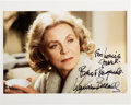 Movie/TV Memorabilia:Autographs and Signed Items, Lauren Bacall Signed Color Photo. ...