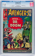 Silver Age (1956-1969):Superhero, The Avengers #25 (Marvel, 1966) CGC FN/VF 7.0 Off-white to white pages....