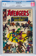 Silver Age (1956-1969):Superhero, The Avengers #24 (Marvel, 1966) CGC VF- 7.5 Off-white pages....