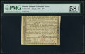 Colonial Notes:Rhode Island, Fully Signed Rhode Island July 2, 1780 $7 PMG Choice About Unc 58 EPQ.. ...