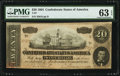 Confederate Notes:1864 Issues, T67 $20 1864 PF-14 Cr. 514 PMG Choice Uncirculated 63 EPQ.. ...