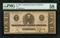 Confederate Notes:1863 Issues, T62 $1 1863 PF-10 Cr. 478 PMG Choice About Unc 58.. ...